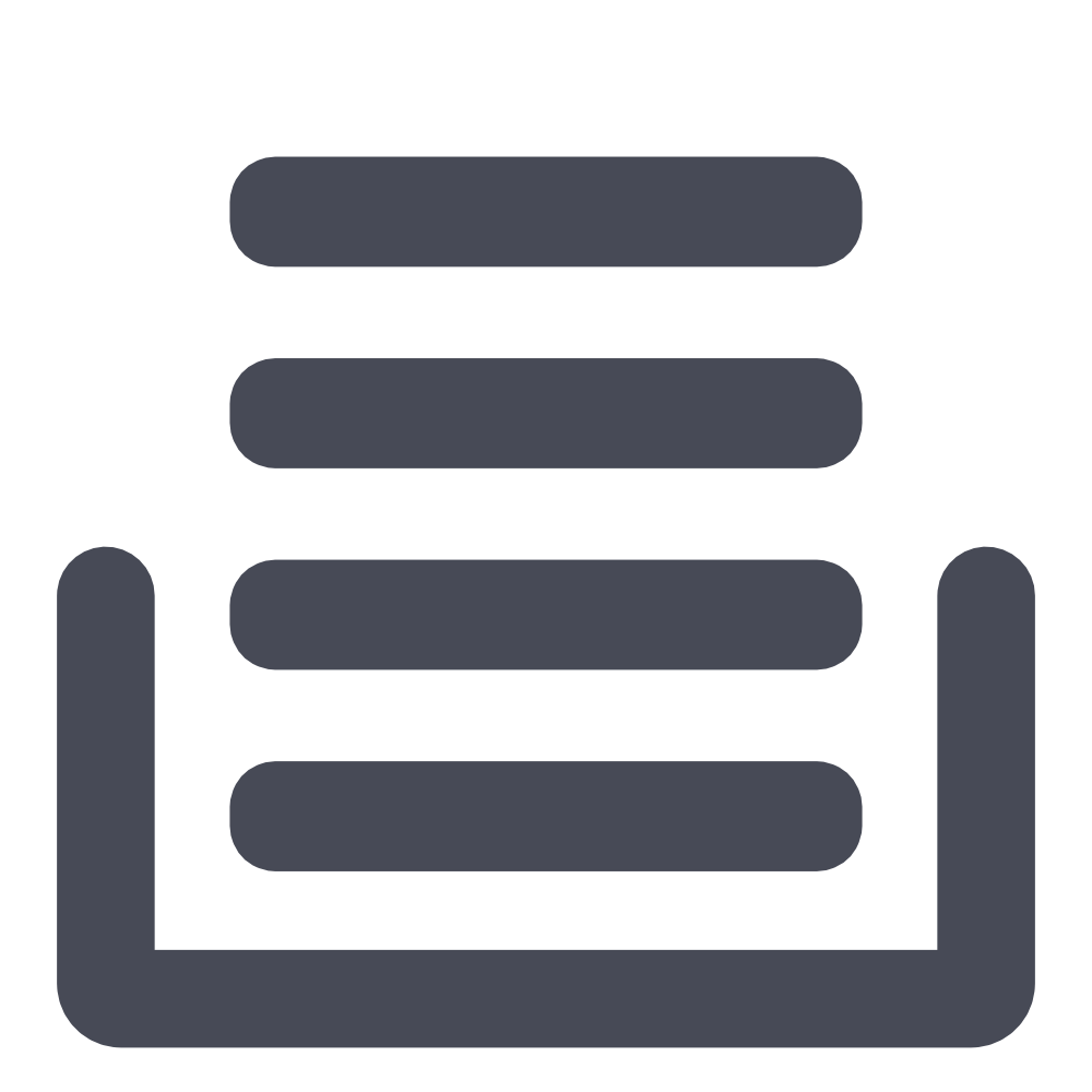 icon of stacking lines